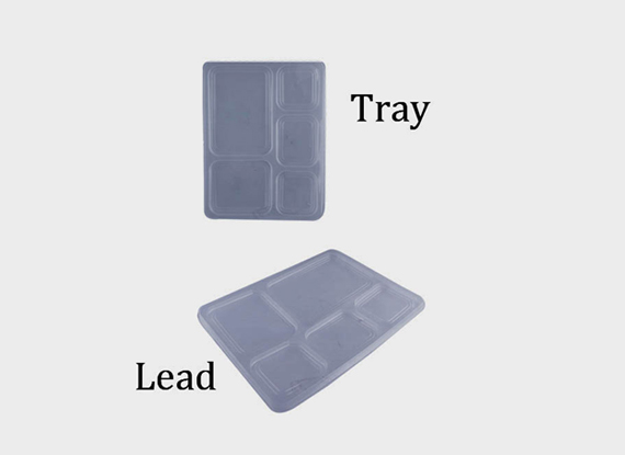 MEAL TRAY WITH LID (5 CP)